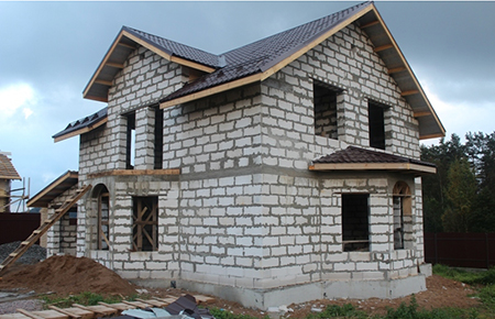 Cтроительство загородных домов и коттеджей из газобетона