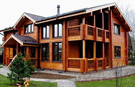 Строительство загородных домов и коттеджей из профилированного бруса