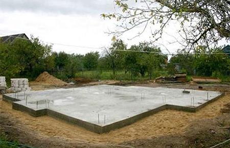 устройство фундамента - плитный фундамент